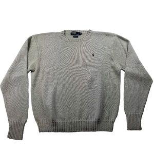 Polo Ralph Lauren Men's XL Sweater Gray Cotton